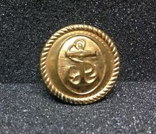 [45815] PLASTIC COAT BUTTON showing ANCHOR INSIGNIA