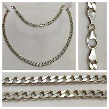 massiccio COLLANA CATENA GOURMETTE 925er in argento collier