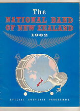 #T10.  1962 SOUVENIR PROGRAM - NATIONAL BAND OF NEW ZEALAND