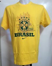BRAZIL YELLOW GRAPHIC TEE SHIRT BY NIKE ADULTS SIZE XL BRAND NEW WITH TAGS