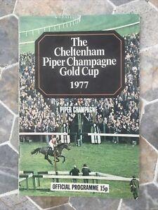 Horse Racing Race-card Cheltenham Gold Cup 17/3/1977
