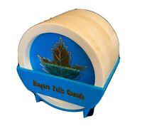 Set of 6 Vintage Blue Niagara Falls Canada Coasters with Caddy Rare Collectible