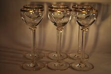 Exquisite Victorian Set of Six Hock Glasses - Possibly by Baccarat or Moser
