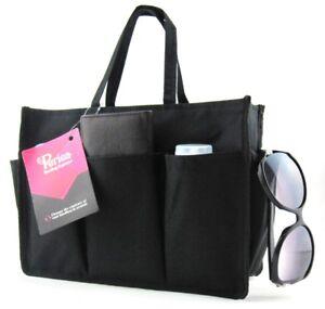 Periea Handbag Organiser Insert - Kristine - Black - Pink - 2 Colours Available