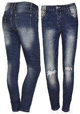 Röhrenjeans High Waist Damenjeans Mozzaar 7/8 Damen Hose Jeans Röhre Pailletten