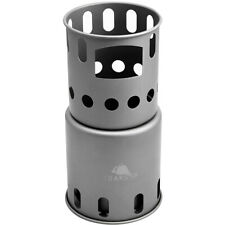 TOAKS Titanium Backpacking Wood Burning Stove STV-12 - Small - Outdoor Camping