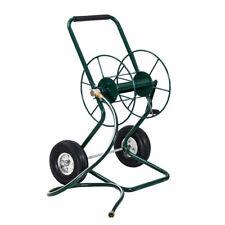 Garden Wheeled Hose Reel Cart Steel Frame Hose Truck Outdoor Water Planting