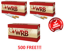 1000 + 500 FREE!!! (3×500) EMPTY CIGARETTE FILTER TUBES WRB MAKE YOUR OWN