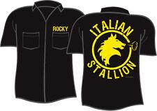 ROCKY BALBOA ITALIAN STALLION Corner Man Button Down T-Shirt Men's 2XL XXL