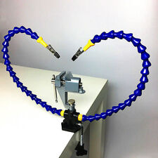 Flexible Arm Two Hand Soldering Iron Holder Stand Clamp Vise Clip WIth Plier