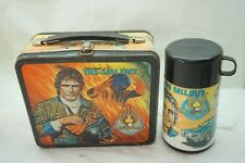 VINTAGE METAL LUNCHBOX THERMOS THE FALL GUY LEE MAJORS TV SHOW 1981 STUNT MAN  d