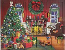 Byers' Choice Wooden Advent Calendar Holz Adventkalender - Christmas Fireside