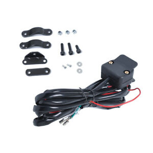3 Meters Black ATV/UTV Winch Rocker Switch Handlebar Control Line Warn Accessory