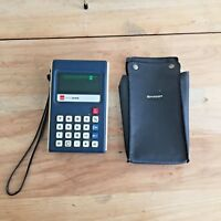 Vintage Calculator - Sharp Elsi 8106 - with case - works Model EL-8106 JAPAN