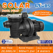 900W Solar Pool Pump Swimming Pool Brushless DC Motor 20000L/H 19m + Controller