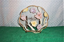 GOLD TRIMMED MOTHER WITH LOVE GLASS DISH BY LEFTON 1986