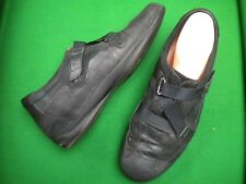 LADIES  KUMFS BLACK LEATHER  FLAT HEEL SHOES  SIZE 12/43XW
