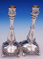 Chrysanthemum by Tiffany and Co Sterling Silver Candlestick Pair #16580 (#3073)