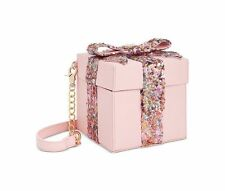 "NWT Betsey Johnson ""Gift Box"" Pink Sequin Crossbody Bag"