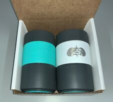 Toadfish Non-Tipping Stainless Steel Suction Can Cooler, Teal/White, Pre-Owned
