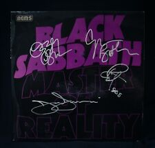 BLACK SABBATH • Autographed MASTER OF REALITY Import Album By All~Ozzy Osbourne