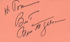 Movies Cards & Papers Leonard Frey Actor 1976 Uja Telethon Tv Movie Autographed Signed Index Card