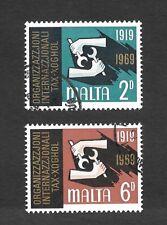 1969 Malta Stamps 50th Anniversary of International Labour Organisation