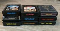 Atari 2600 Game Lot of 9 Games Warlords Defender and more.