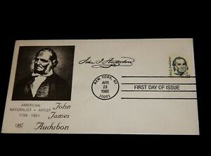 Vintage Cover,1985, FDC, NEW YORK, NY, JOHN JAMES AUDUBON, Naturalist & Artist