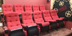 10 Nice Movie Cinema chairs Very Comfortable HOME Theater Seating seat high back
