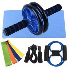 AB Roller Wheel Kit Home Abdominal Muscle Fitness Workout Training Exerciser