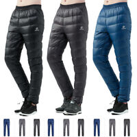 Super Men Warm Waterproof Breathable Hiking Real Down Outdoor Pants Trousers Tcp