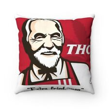 """THC """"Extra Fried, Man' Tommy Chong  Spun Polyester Square Pillow gift"""