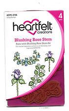 Heartfelt Creations Blushing Rose Stem Cling Rubber Stamp Set