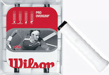 WILSON Pro Overgrip Bianco per Tennis, Oltre Grip Padel o Squash (confezione da 12)