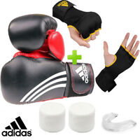 New! adidas Sparring Boxing Gloves Set! Includes Quick Wrap Gloves & Mouthguard
