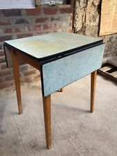 Vintage 1950's Formica Top Solid Wooden Extending Kitchen Table Detachable Legs
