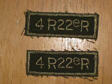Canadian Army Shoulder Title badge set Combats 4th Battalion Royal 22nd Regiment