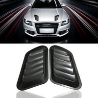 2pcs Universal Car Decorative Air Flow Intake Scoop Turbo Bonnet Vent Cover Hood