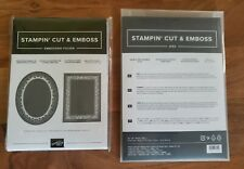 Stampin Up Heirloom Frames Dies and 3-D Embossing Folders Square and Oval *New*