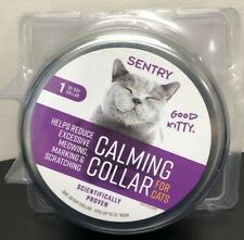 """Sentry CALMING COLLAR For Cats Single Pack 30-Day Collar Fits 15"""" Neck  NEW"""
