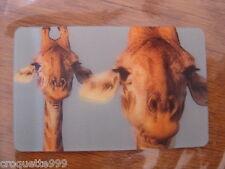 2014 Carte animée CORA Collector Animaux Animals GIRAFE 32/44