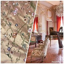 SALE! Designer 100% Silk Taffeta Interior Design Fabric - Salmon Pink Iridescent