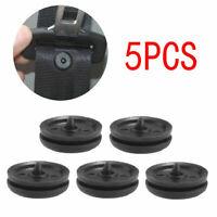 5× Universal Clip Seat Belt Stopper Buckle Button Fastener Safety Black Car Part