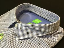 "Hugo Boss Green Label  3XL Chest Measures 50"" Blue C-BERSH Slim Fit Shirt RRP£85"