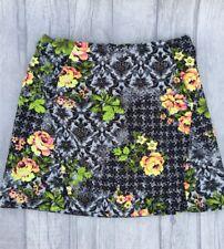 Topshop Floral Mini Skirt Size UK 8