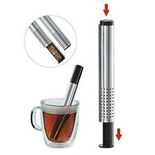 Stainless Loose Tea Coffee Herbal Infuser Stick Strainer Filter Diffuser Tools B