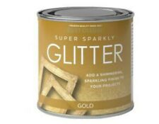 Rust-Oleum Super Sparkly Sparkling Gold Glitter Brush Paint 250ml Wood Metal