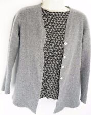 RARE IL BORGO Womens Cashmere Gray Cardigan Sweater Made in Italy MOP Buttons