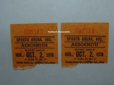 (2) AEROSMITH & AC/DC 1978 Ticket Stub Lot SPORTS ARENA Ohio BON SCOTT Mega Rare
